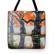 Riverside Trees Tote Bag