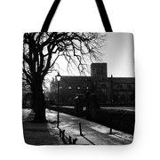 riverside walk in Haddington on winters morning Tote Bag