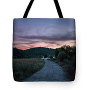Road To Sunset Tote Bag