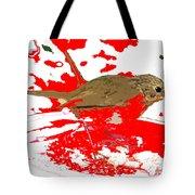 Robin And Snow Tote Bag