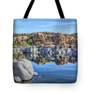 Rocks And Reflections Tote Bag