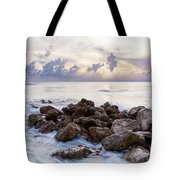 Rocky Beach At Sunset Tote Bag by Brian Jannsen