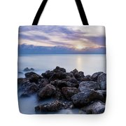 Rocky Beach At Sunset II Tote Bag by Brian Jannsen