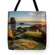 Rocky Pismo Sunset Tote Bag by Mike Long