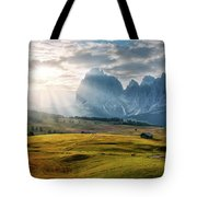 Rolling Hills Of Alpe Di Siusi Tote Bag by Dmytro Korol