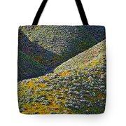Rolling Hillsides In California - Vertical Tote Bag