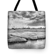 Rolling Into Nyc Black And White Tote Bag