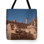 Roman Temple In Petra Tote Bag by Mae Wertz