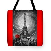 Romance At The Eiffel Tower Tote Bag