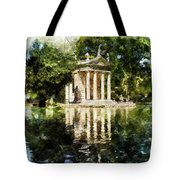 Rome, Ancient Temple Of Aesculapius - 04 Tote Bag