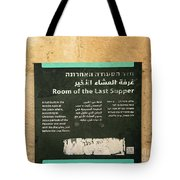 Room Of The Last Supper Tote Bag