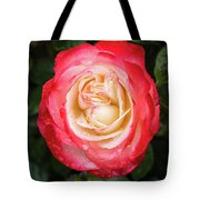Rose And Rain - The Ice-cream Rose Tote Bag