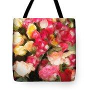 Roses Galore Tote Bag by Isabella Howard