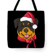 Rotweiler Xmas Hat Dog Pet Lover Christmas Tote Bag