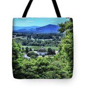 Round Barn Landscape Tote Bag by Photography by Laura Lee