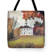 Round Church In Vermont Autumn Tote Bag by Jeff Folger