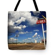 Route 66 Cafe 2010 Bw Tote Bag by Frank Romeo
