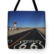 Route 66 Shield 2012 Bw Tote Bag by Frank Romeo