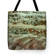 Rows Of Terra Cotta Warriors In Pit 1 Tote Bag