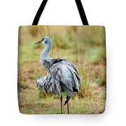 Ruffled Crane Tote Bag