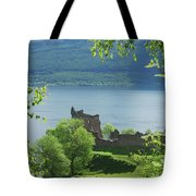 ruins of castle Urquhart on loch Ness Tote Bag