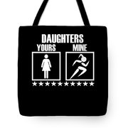 Runner Mom Dad Gift Parent Of Track And Field Daughter Tote Bag