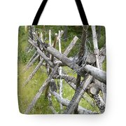 Russel Fence Tote Bag by Ann E Robson