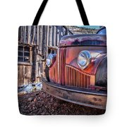 Rusty Old Truck In A Ghost Town In Arizona Tote Bag