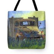 Rusty Sunrise Tote Bag by David King