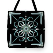 Sacred Circle Design In Blues And White Tote Bag
