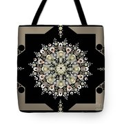 Sacred Circle Design In Gold, Cream And White Tote Bag