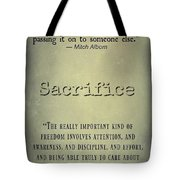Sacrifice 8722 Tote Bag
