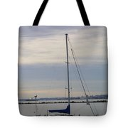 Sailboat In The Bay Area Tote Bag