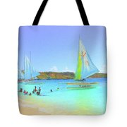 Sailboats At Sandy Ground In Anguilla  Tote Bag