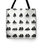 Sailing Vessel Types And Rigs Tote Bag
