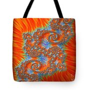 Saint Georges Vanquished Dragon Fractal Abstract Tote Bag by Rose Santuci-Sofranko