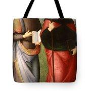 Saint John The Evangelist And Saint Augustine Tote Bag
