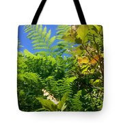 Salal Blooms Amongst The Ferns Tote Bag