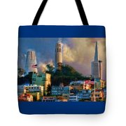 Salesforce Tower Coit Tower Transamerica Pyramid Tote Bag