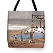 Salt Pans And 200 Yr Old Cable Car Winches Tote Bag