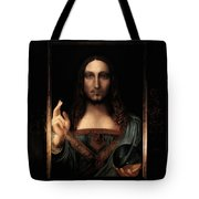 Salvator Mundi After Leonardo Da Vinci Tote Bag