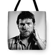 Sam Worthington Tote Bag