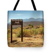 San Andreas Fault Tote Bag