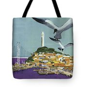 San Francisco American Airlines Tote Bag