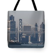 San Francisco Past The Bay Bridge Tote Bag