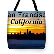 San Francisco Sunrise 2x3 Tote Bag