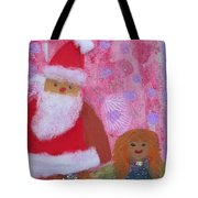 Santa Claus And Guardian Angel - Pintoresco Art By Sylvia Tote Bag