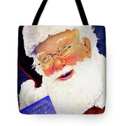 Santa Knows Tote Bag