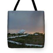 Santuario De Nossa Senhora Da Piedade Welcoming Twilight In Loule Tote Bag