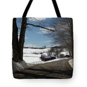Sap Buckets Ready At The Jenne Farm Tote Bag by Jeff Folger